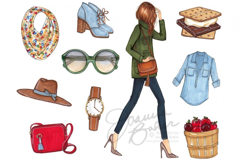 Fall New Arrivals! Fashion Illustrations by Joanna Baker