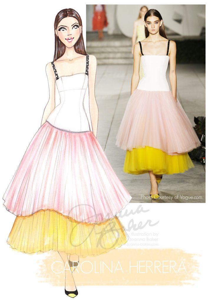 Carolina Herrera Fashion Illustration by Joanna Baker