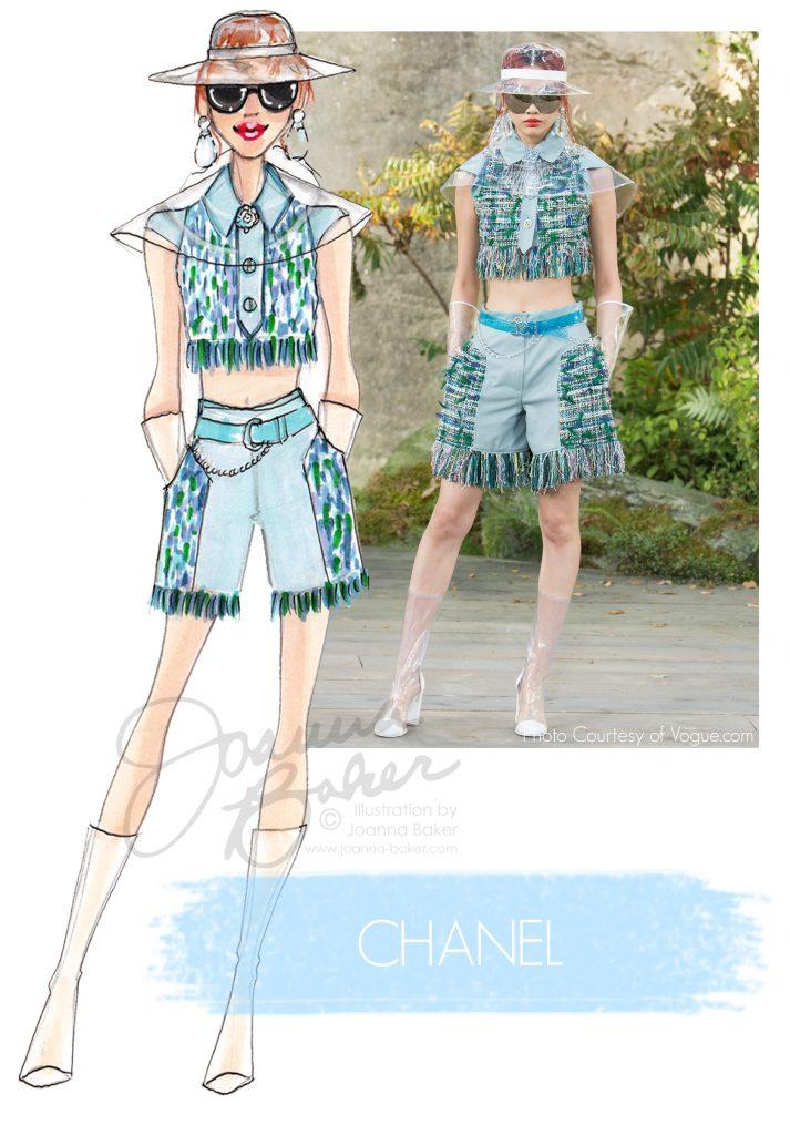 Chanel Fashion Illustration by Joanna Baker