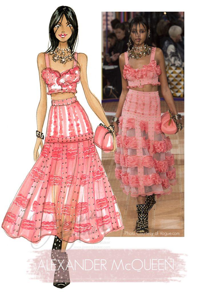 Alexander McQueen Fashion Illustration by Joanna Baker