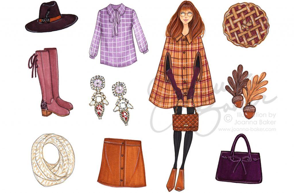 Favorite Things November 2017 Fashion Illustration by Joanna Baker