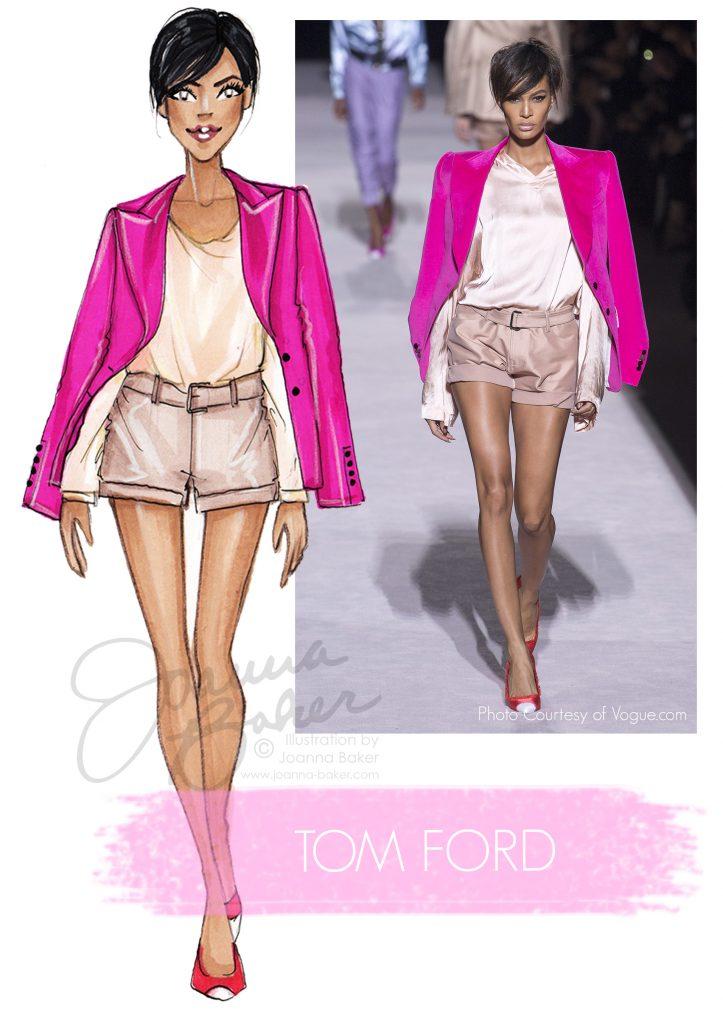 Tom Ford Fashion Illustration by Joanna Baker