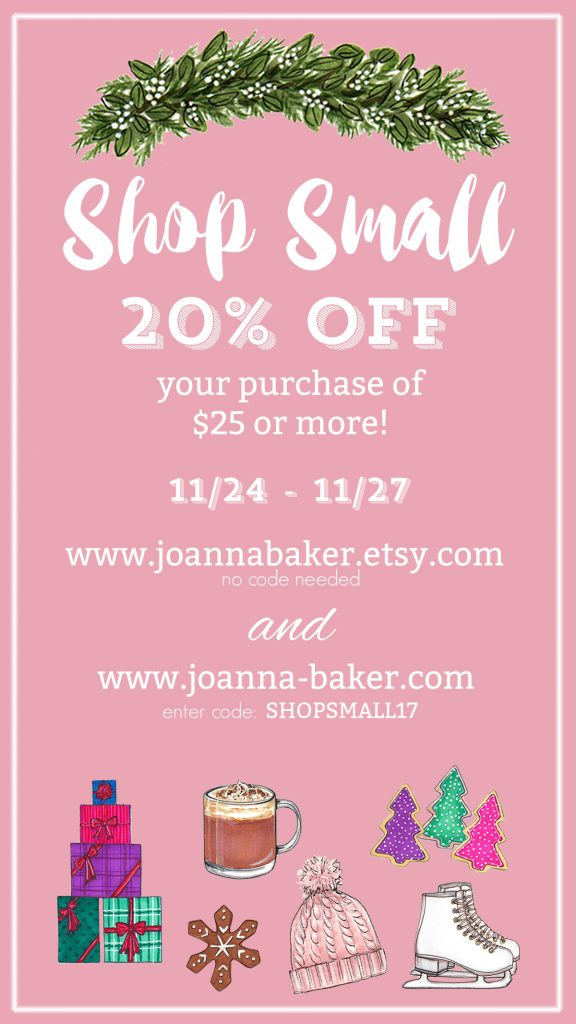 Shop Small Holiday Sale at Joanna Baker Illustration