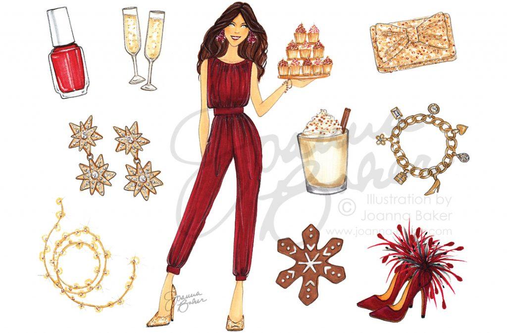 Happy December! Favorite Things Calendar by Joanna Baker
