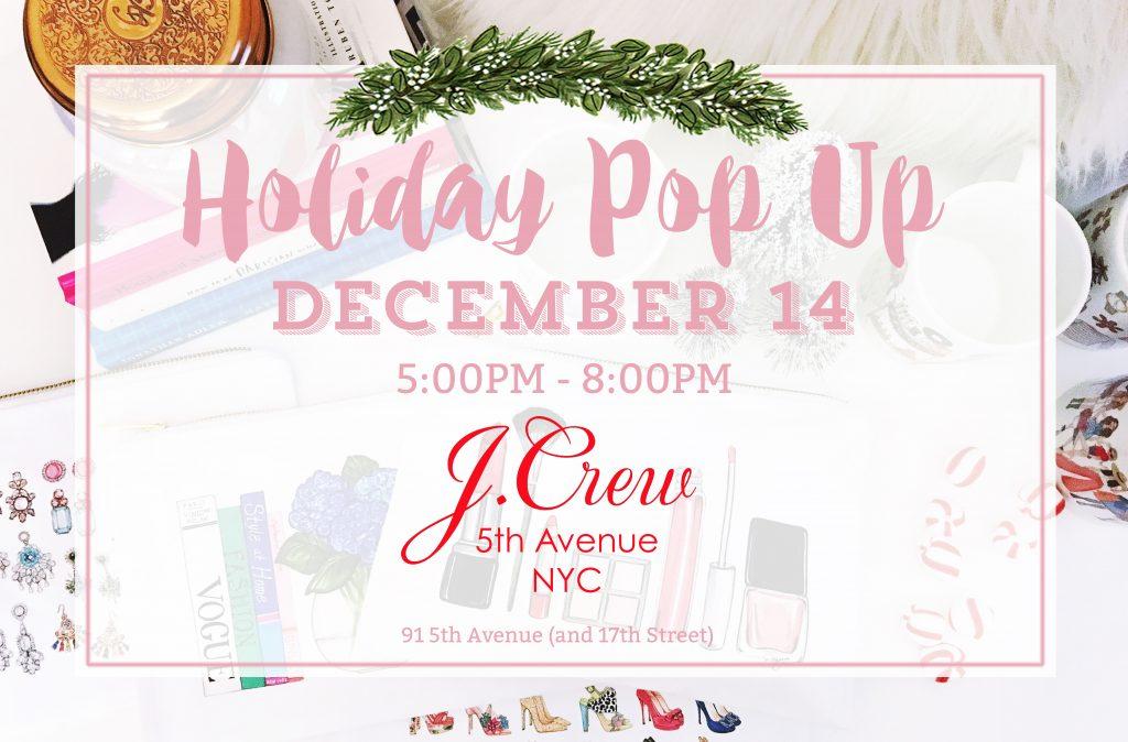 J. Crew Holiday Pop Up Shop with Joanna Baker Illustration