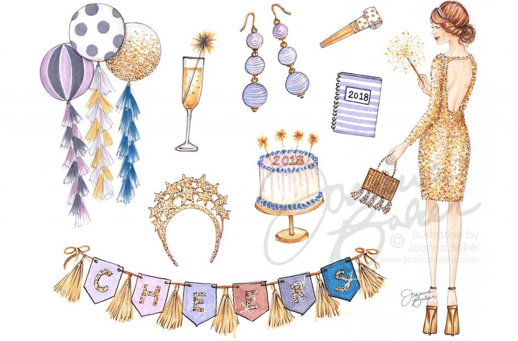 Favorite Things 2018 Calendar by Joanna Baker