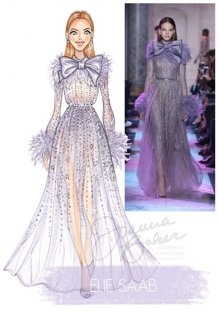 Elie Saab Couture Illustration by Joanna Baker