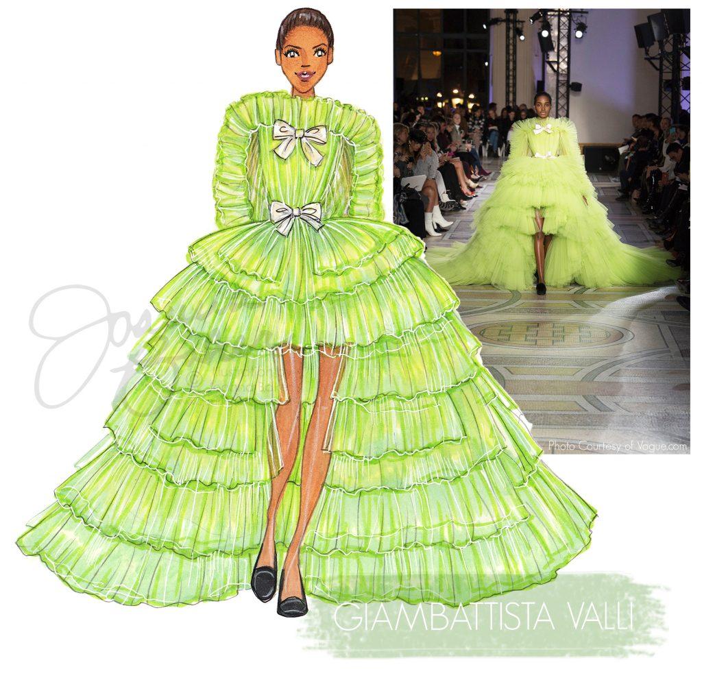 Giambattista Valli Couture Illustration by Joanna Baker