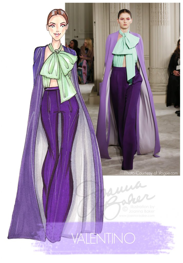 Valentino Couture Illustration by Joanna Baker