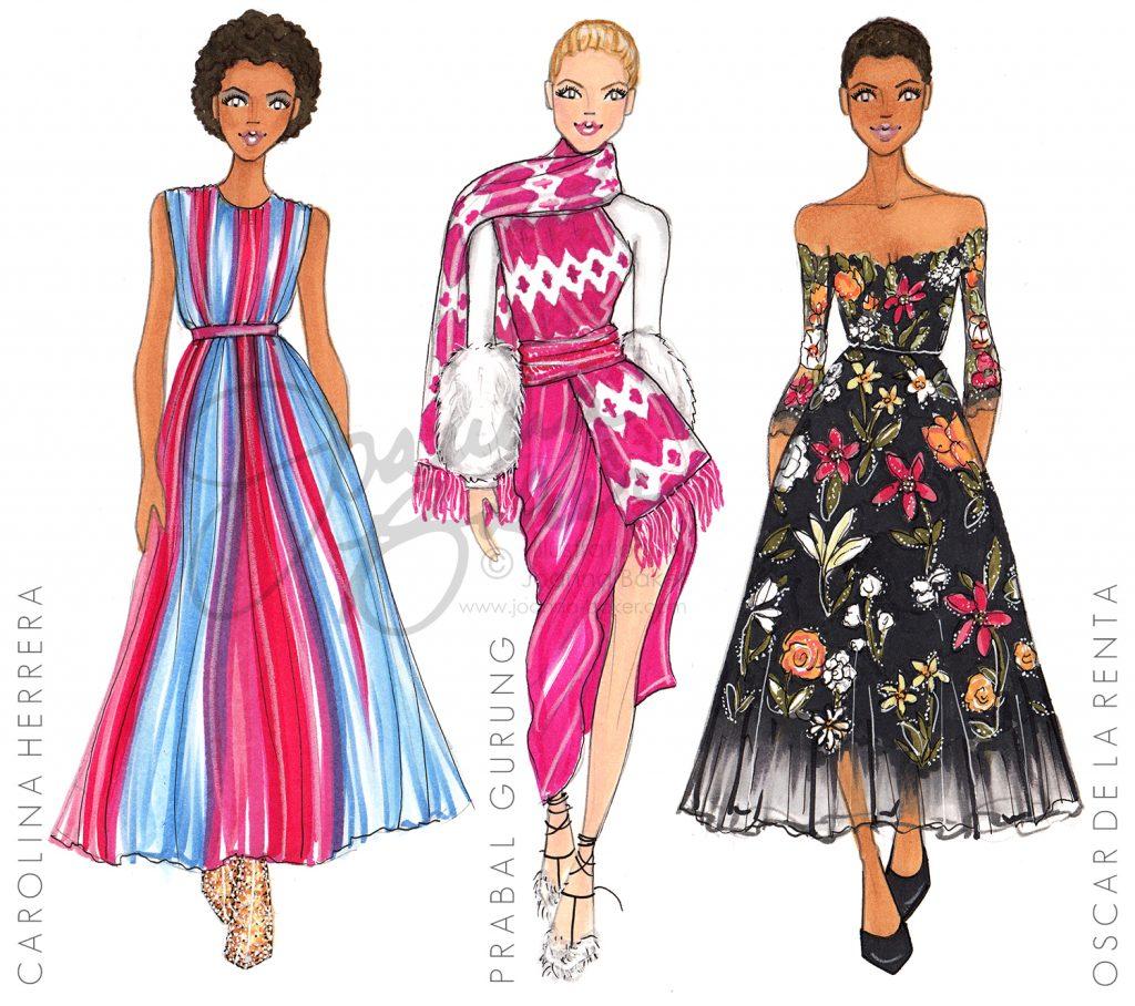 New York Fashion Week Illustrations by Joanna Baker