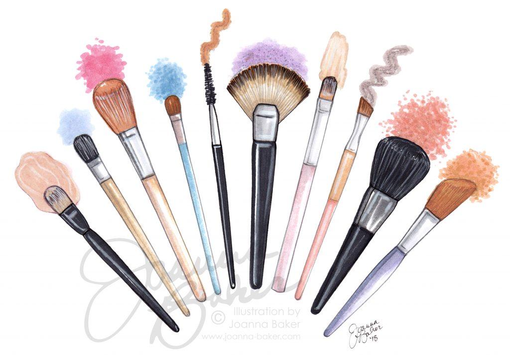 Joanna Baker Illustration Beauty Blog Post Collab with Mara Ferreira!
