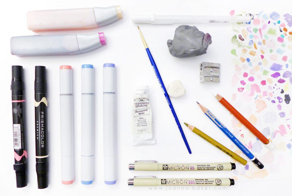 Favorite Art Supplies - Joanna Baker Illustration