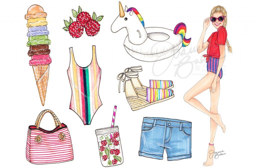 July Favorite Things Calendar by Joanna Baker