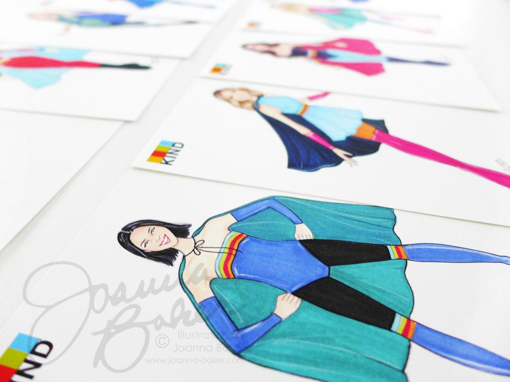 Kind x Joanna Baker Superhero Illustrations