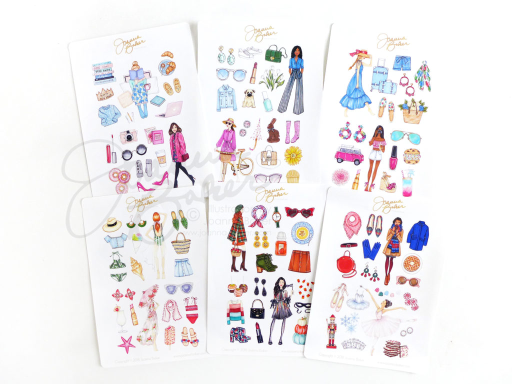 Favorite Things 2019 Planner Stickers by Joanna Baker