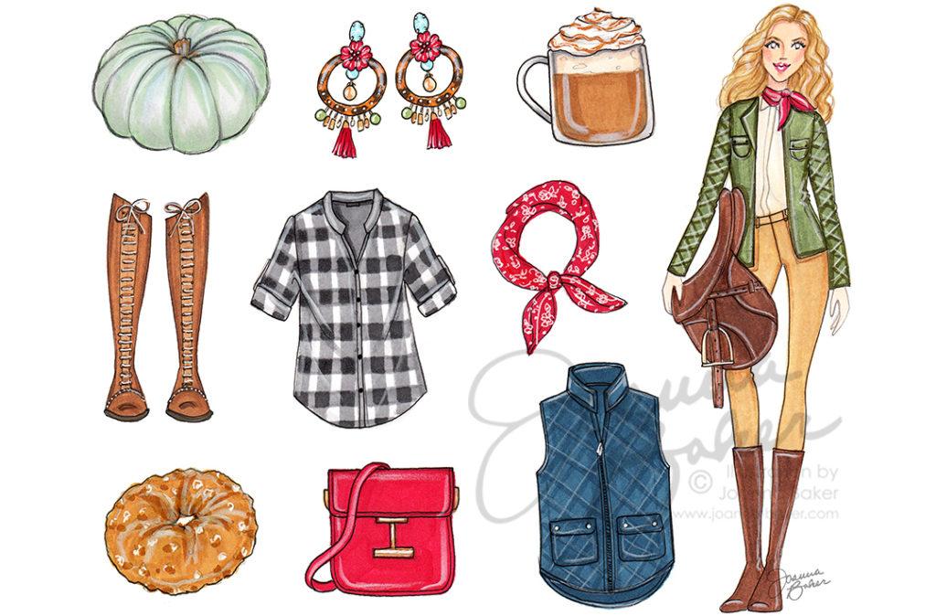 October 2018 Fashion Illustration by Joanna Baker