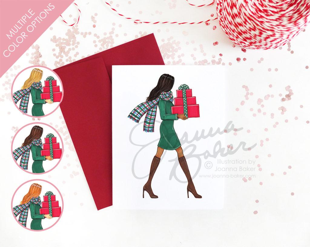 Semi-Custom Holiday Fashion Card by Joanna Baker
