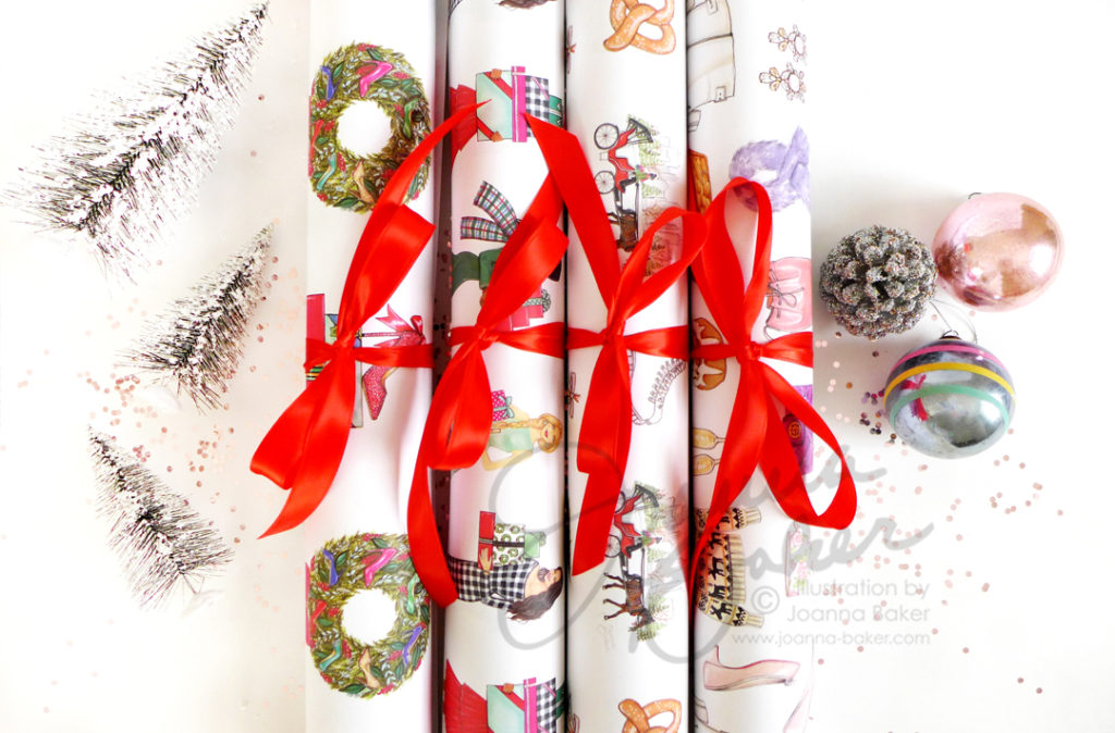 Illustrated Gift Wrap by Joanna Baker