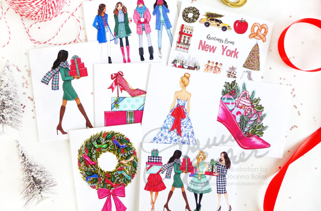 Holiday Greeting Cards by Joanna Baker