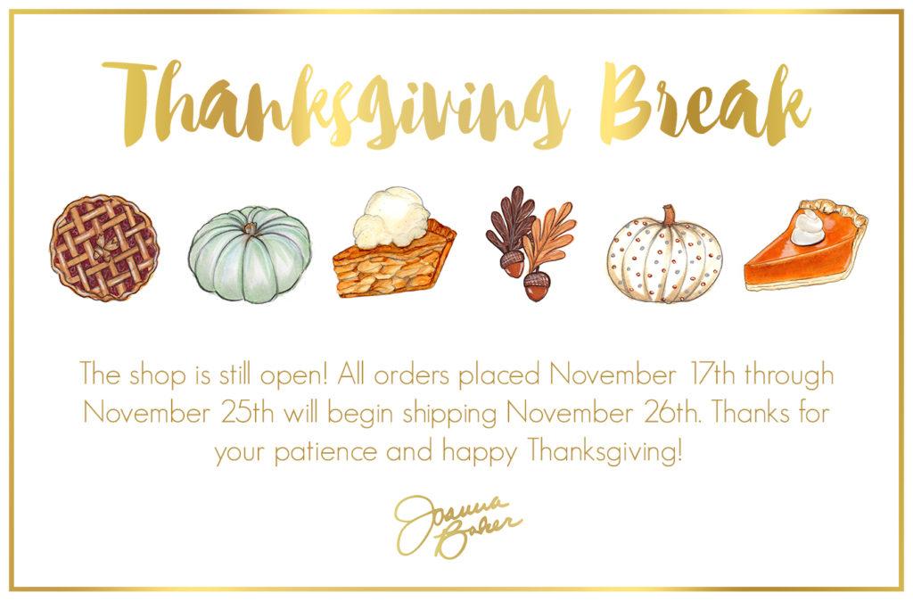 Joanna Baker Illustration : Thanksgiving Break