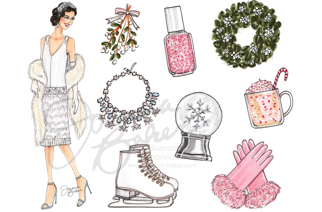 Happy December! Illustration by Joanna Baker