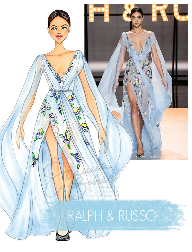 Ralph & Russo Couture Illustration by Joanna Baker