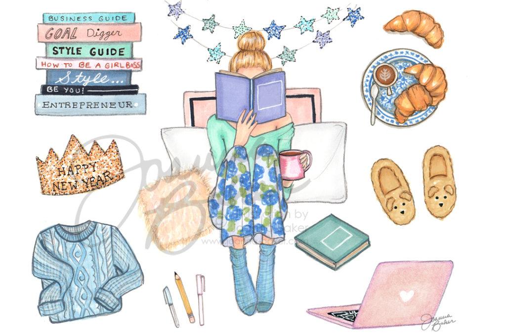 Happy 2019 from Joanna Baker Illustration!