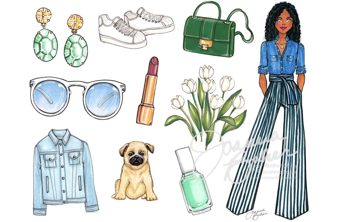 Happy March! Fashion Illustration by Joanna Baker