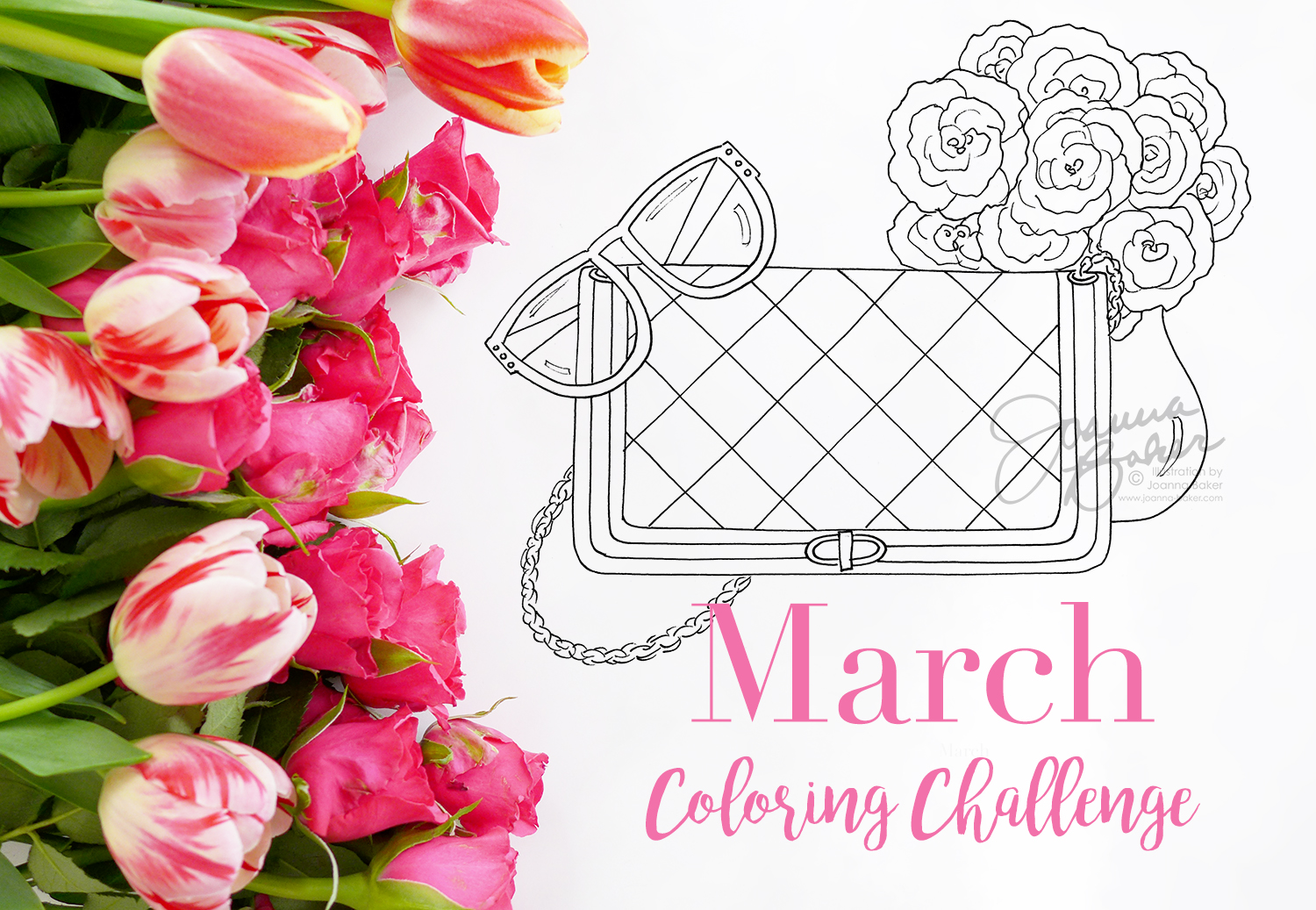 March Coloring Challenge Preview Illustration by Joanna Baker