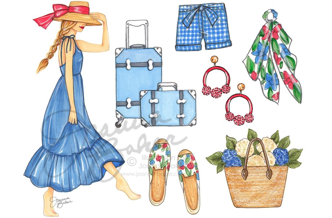 May Favorite Things Fashion Illustration by Joanna Baker
