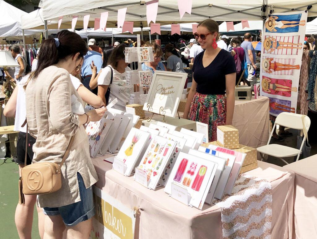 Grand Bazaar Pop Up with Joanna Baker Illustration