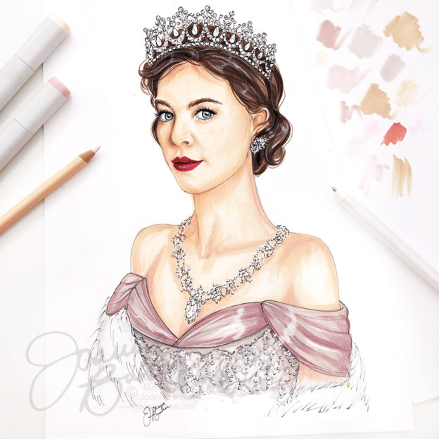 Vanessa Kirby at Princess Margaret, Portrait by Joanna Baker