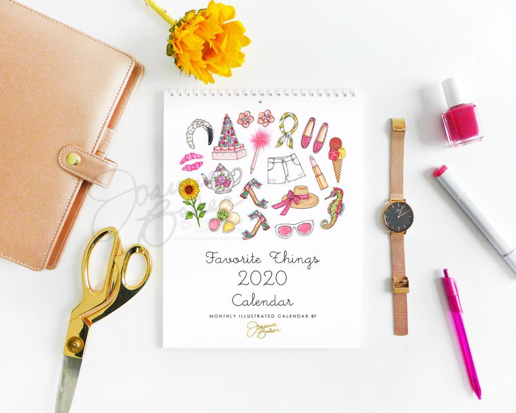Favorite Things 2020 Calendar by Joanna Baker