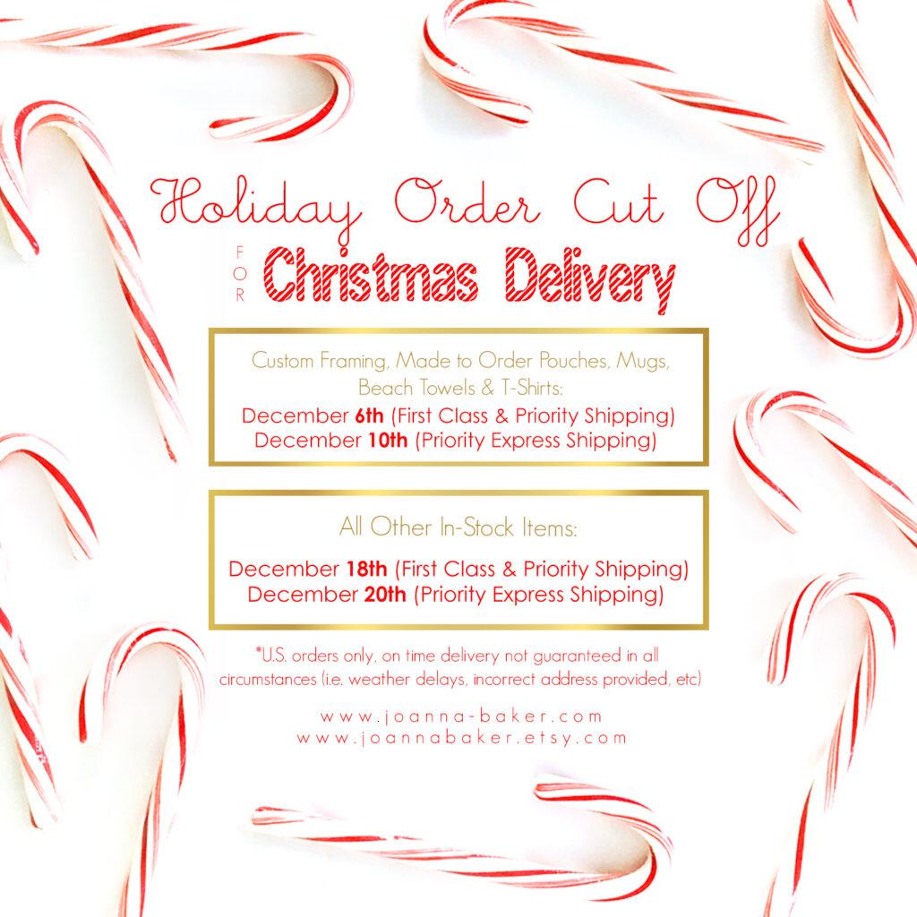 Holiday 2019 Shipping Cut Offs - Joanna Baker Illustration
