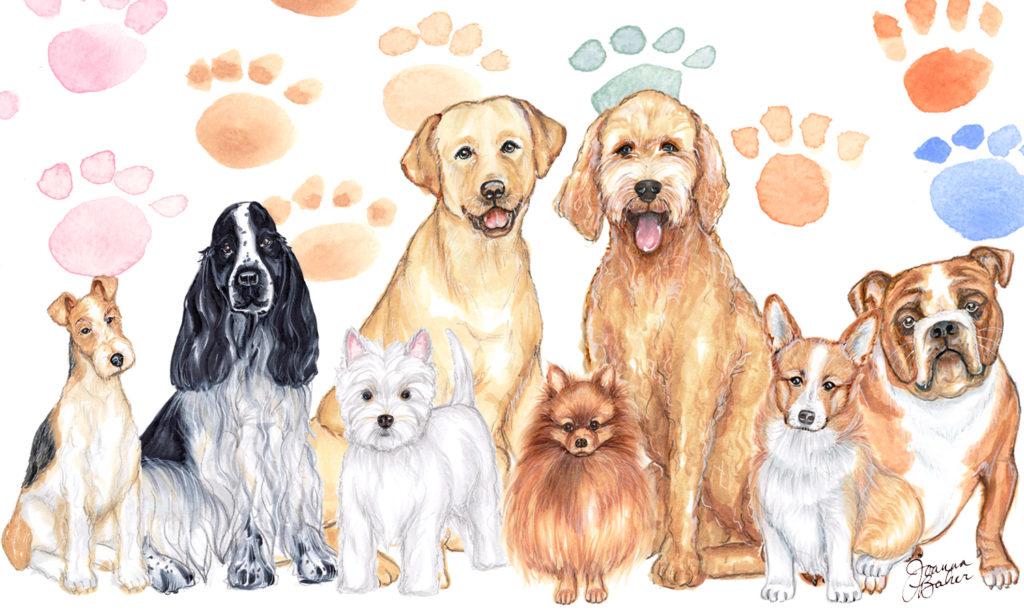 Dog Illustrations by Joanna Baker