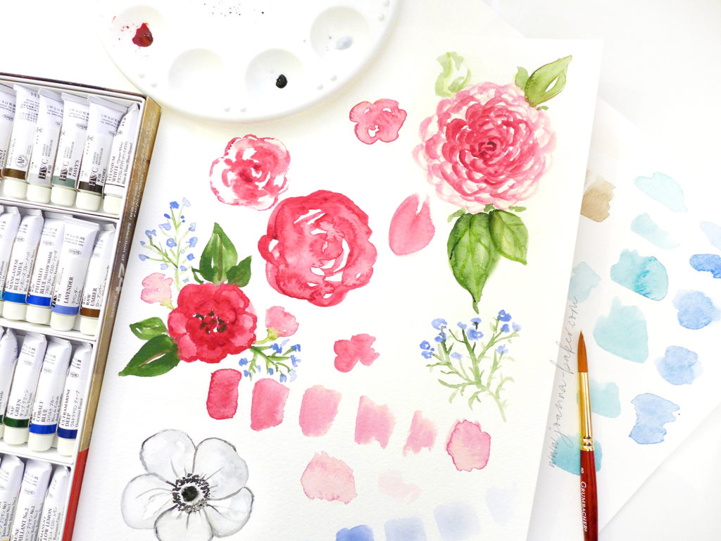 Watercolor Practice by Joanna Baker
