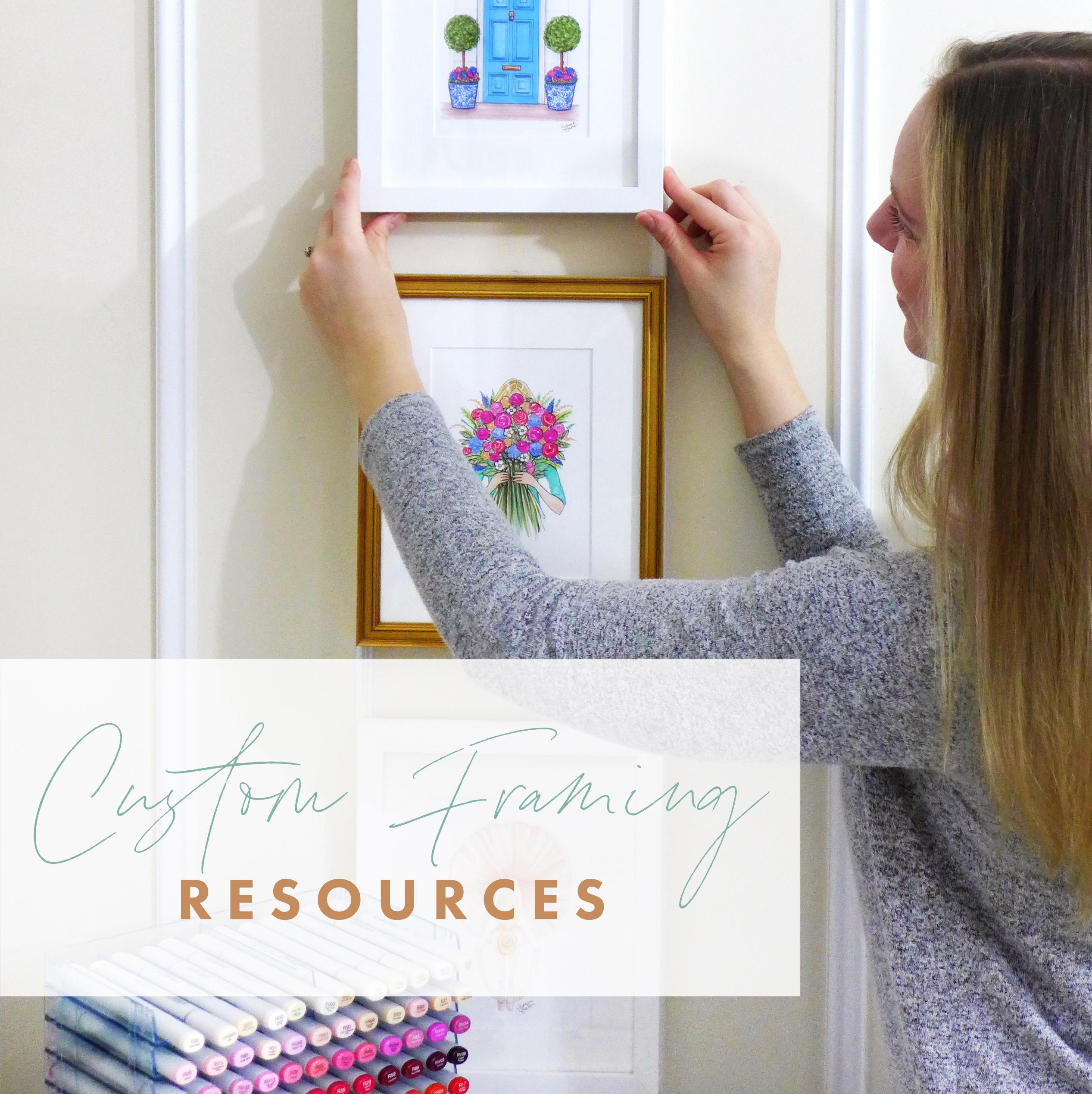 Custom Framing Resources by Joanna Baker