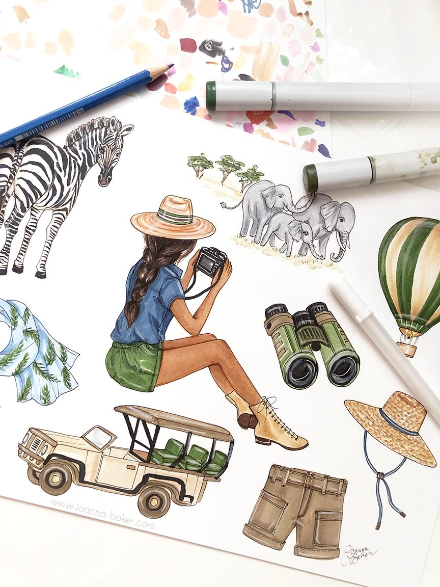 August 2021 Favorite Things Calendar by Joanna Baker