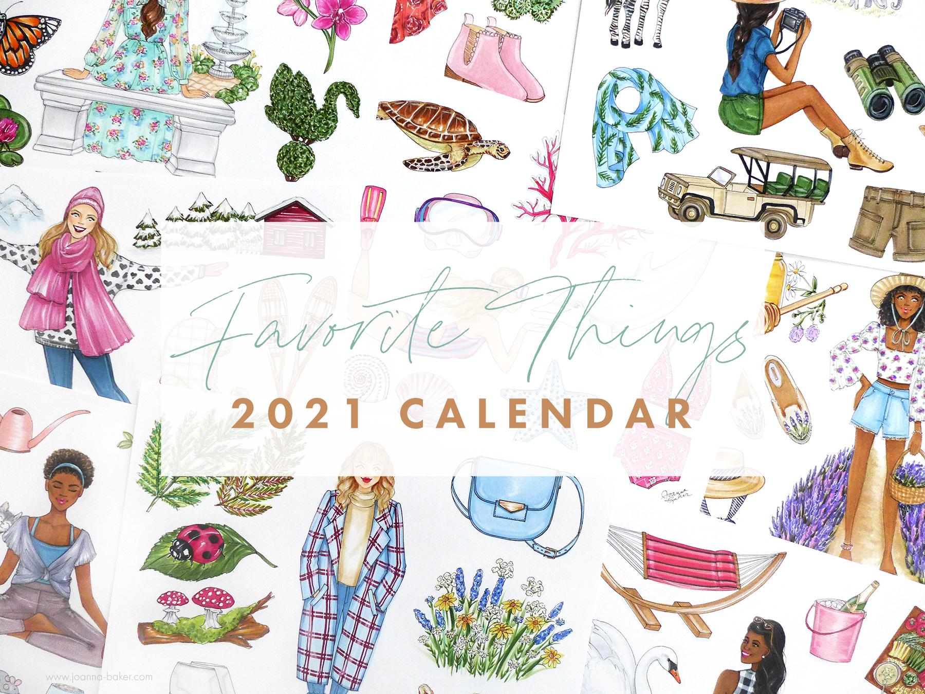 Favorite Things 2021 Calendar Preview by Joanna Baker