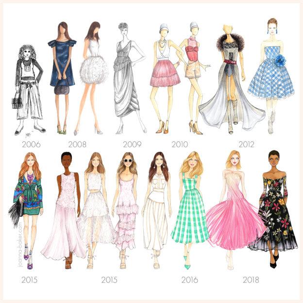 Fashion Illustration Progress - Joanna Baker