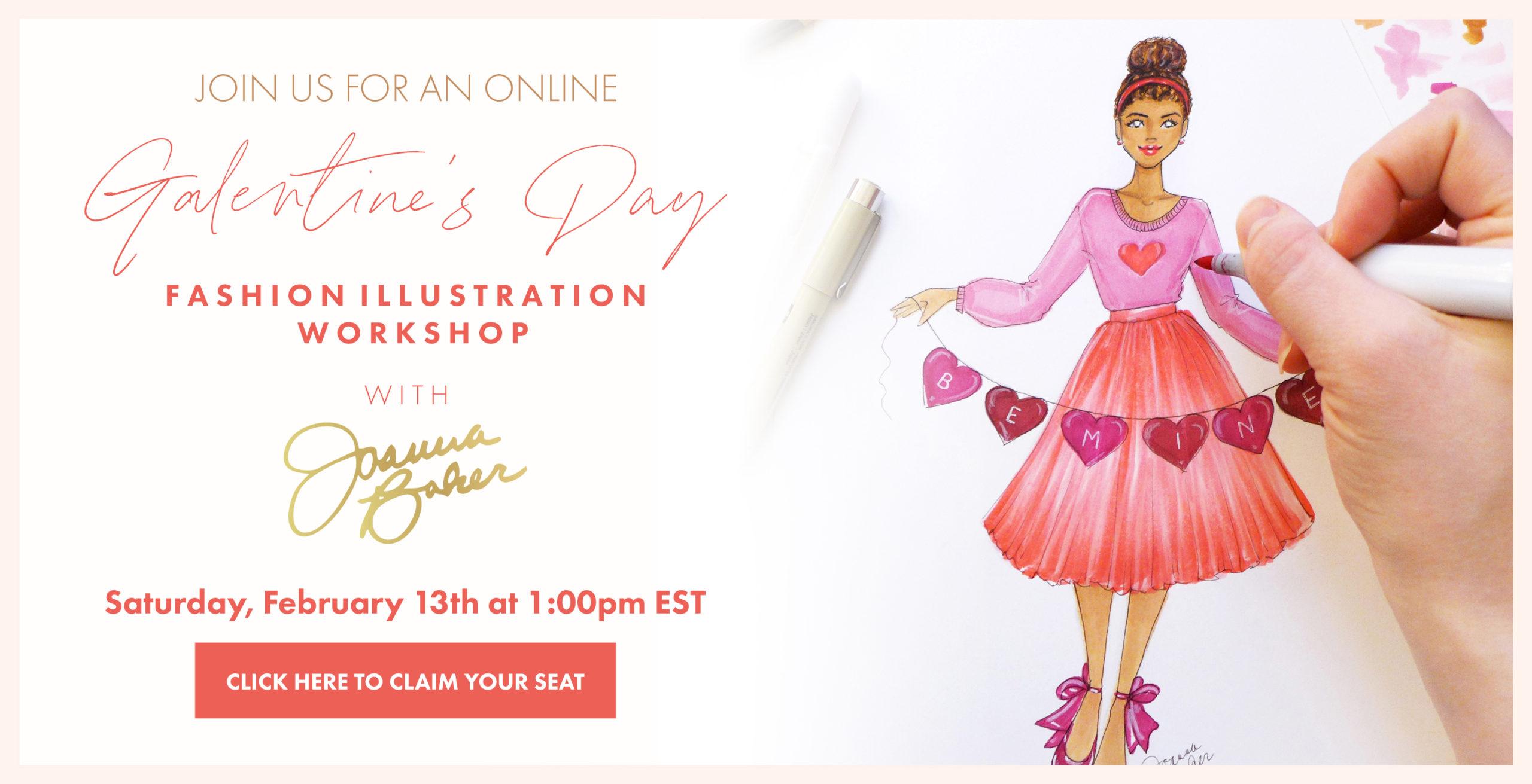 Galentine's Day Fashion Illustration Workshop