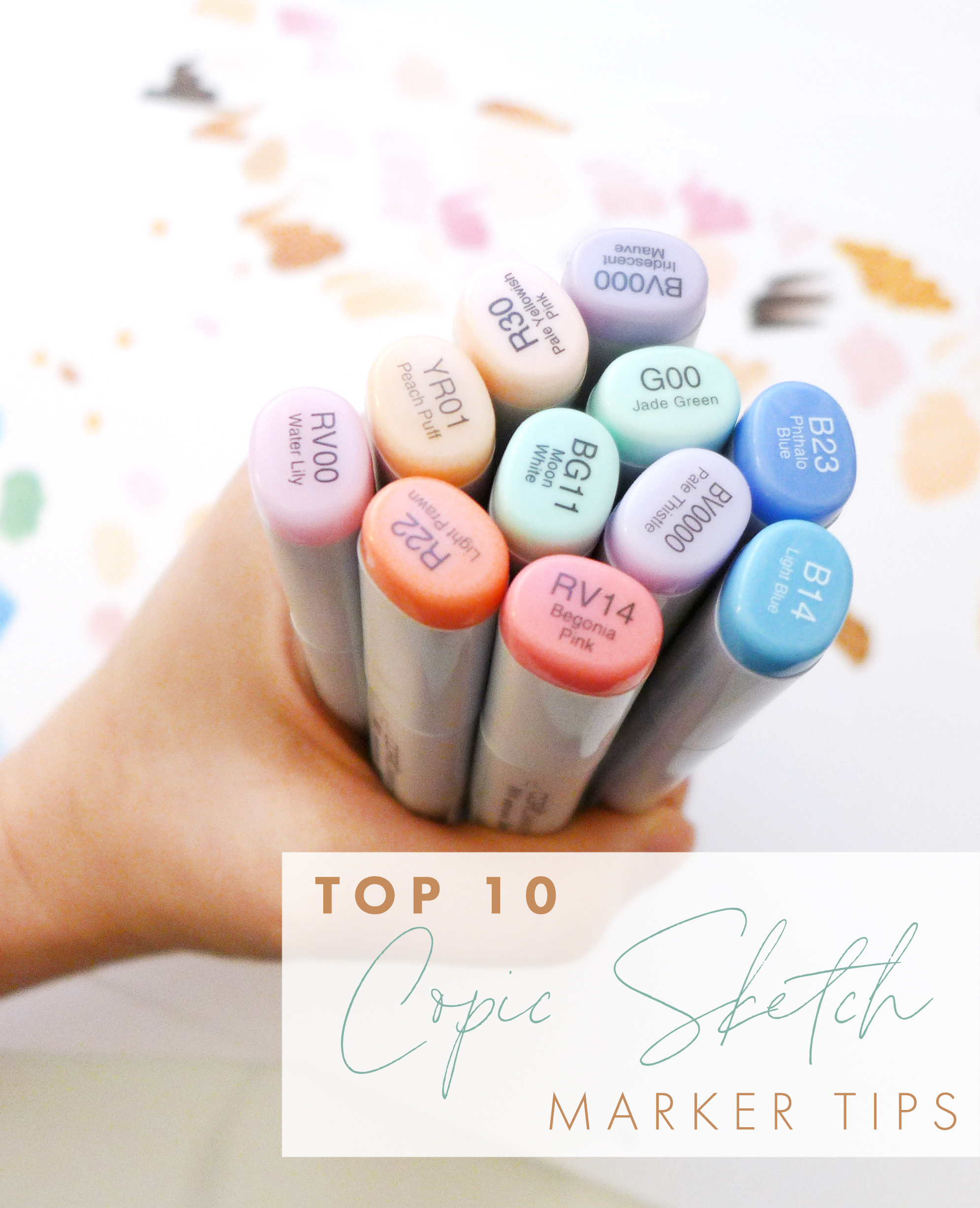 Joanna Baker Illustration Top 10 Copic Sketch Marker Tips