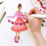 Galentine's Day Fashion Illustration Workshop