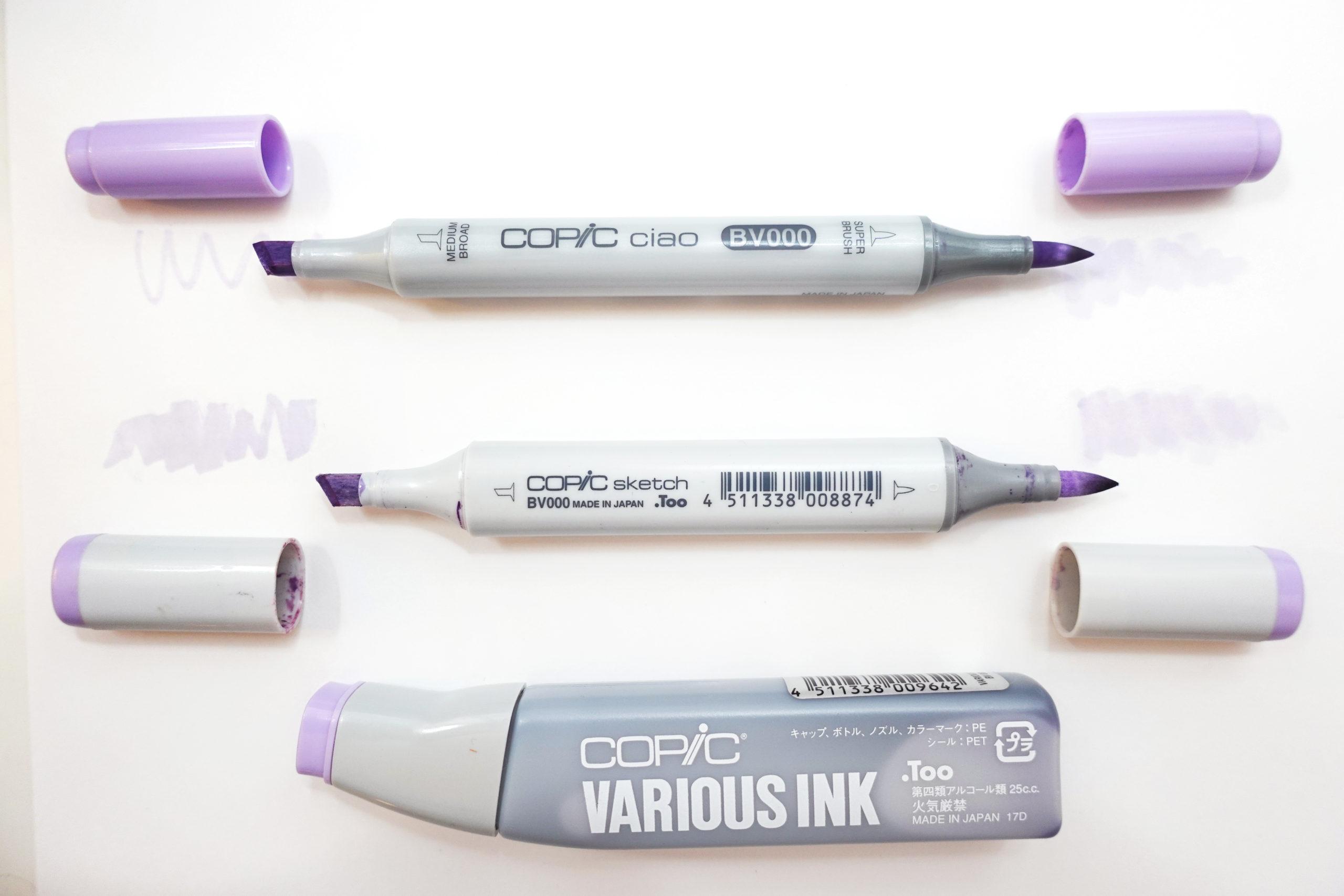 Copic Sketch Marker vs. Copic Ciao Marker - Joanna Baker