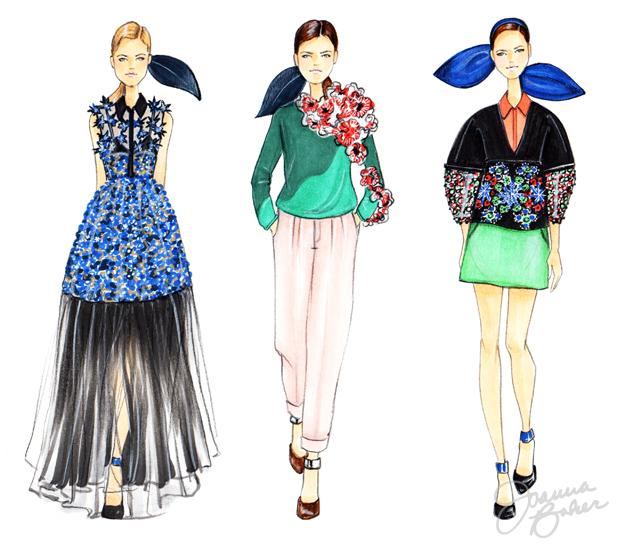 Delpozo Details Fashion Illustrations by Joanna Baker