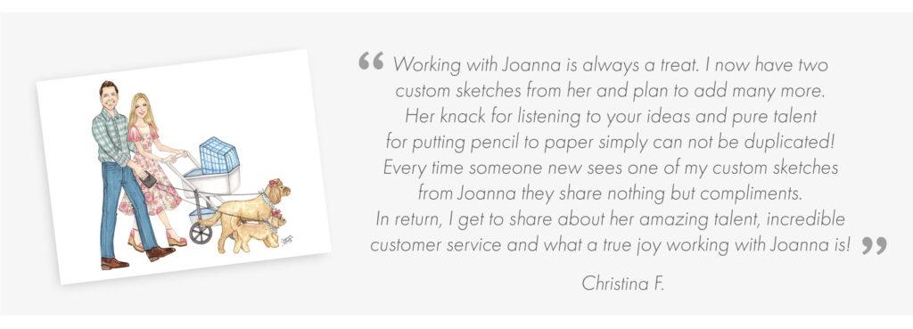 Client Reviews - Joanna Baker Illustration
