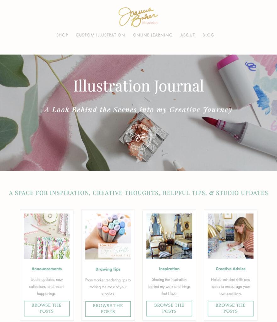Blog Makeover - Joanna Baker Illustration
