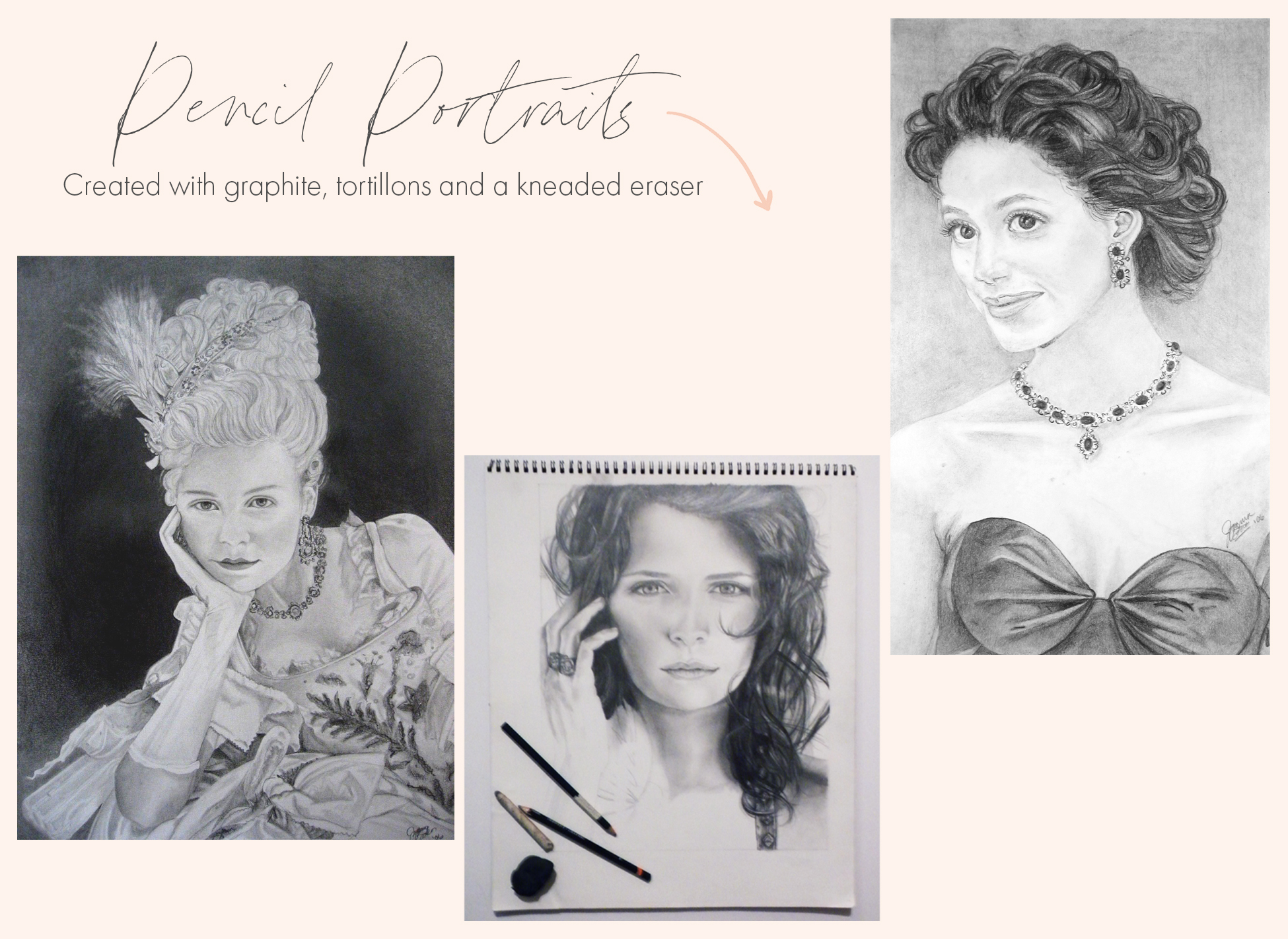 Graphite Pencil Sketches by Joanna Baker