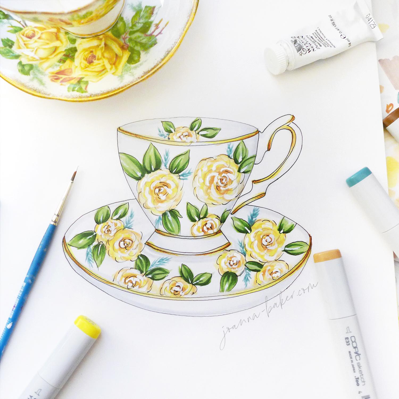 Teacup Illustration by Joanna Baker