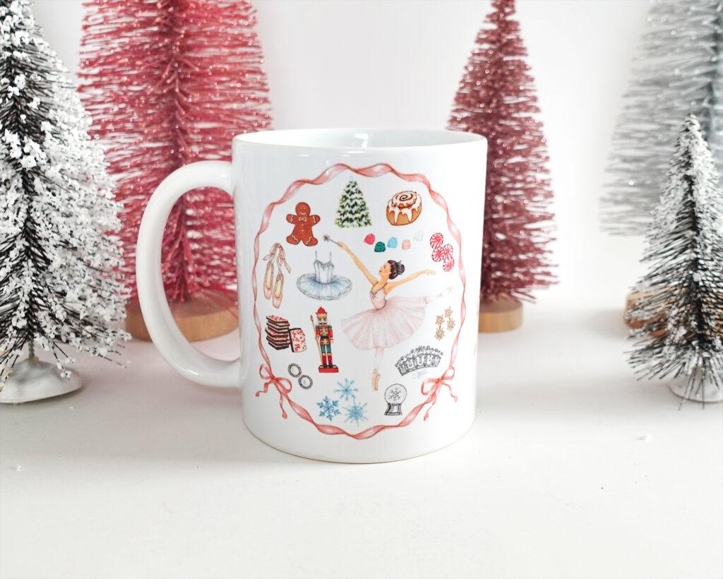 Sugar Plum Fairy Mug by Joanna Baker